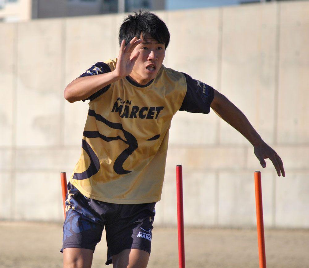 Choe Song-hyok, lors d'une séance d'entraînement à la plage de Barcelone.