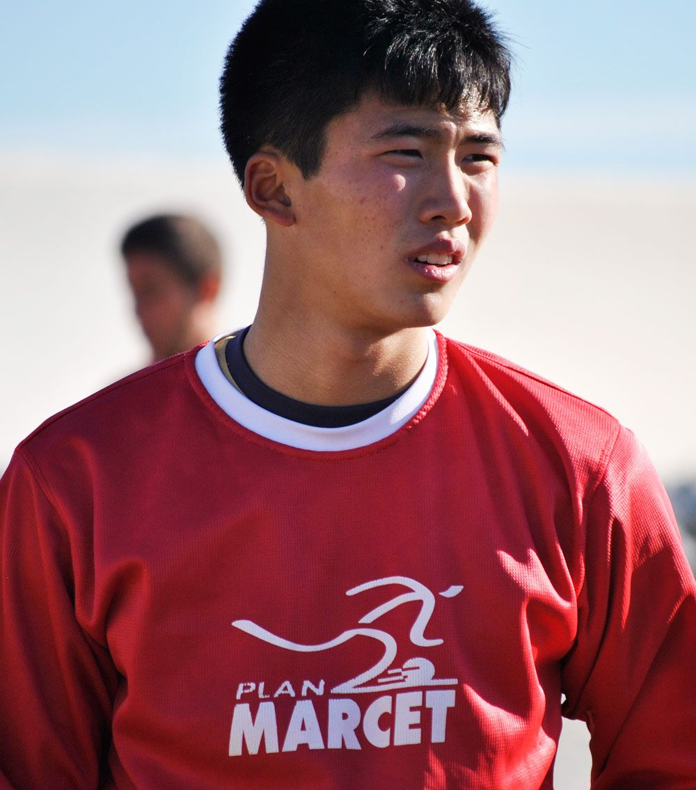 Han Kwang-song, during a training session at Marcet.