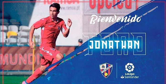 Mensaje de bienvenida para Jonathan Rubio Toro publicado por el SD Huesca en sus redes sociales.
