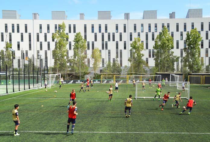 Sesión de entrenamiento en la sede central de Marcet, en Barcelona.