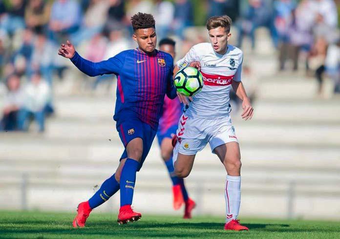 Konrad, en un partido con el Juvenil del FC Barcelona.