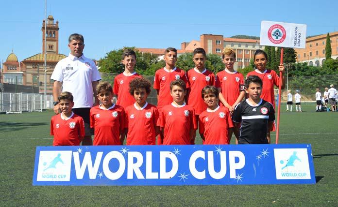 Una de las selecciones libanesas que participó en la Academies' World Cup of Football 2018.