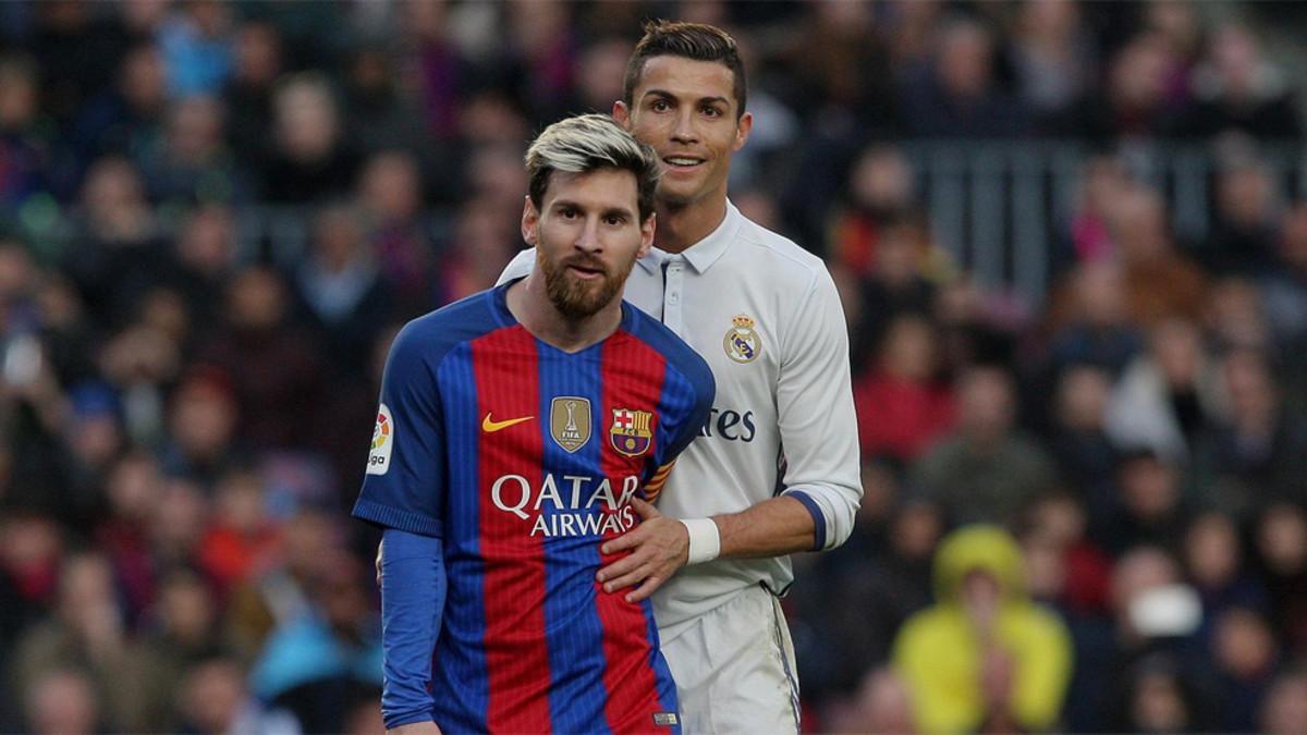 Lionel Messi y Cristiano Ronaldo durante un Barcelona-Real Madrid.