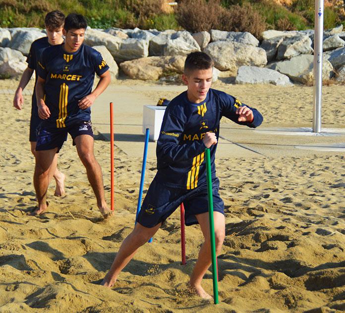 Mikhail Shakhkalamov lors d'une séance d'entraînement à Barcelone.