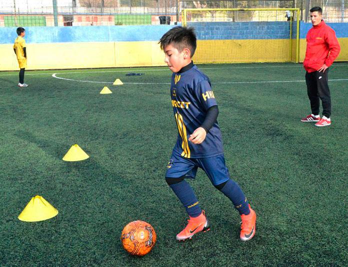 Rodrigo durante un entrenamiento personalizado en la Academia Marcet.