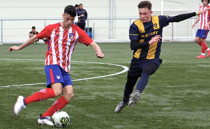 Danil Ankudinov durante un partido contra el Atlético de Madrid.