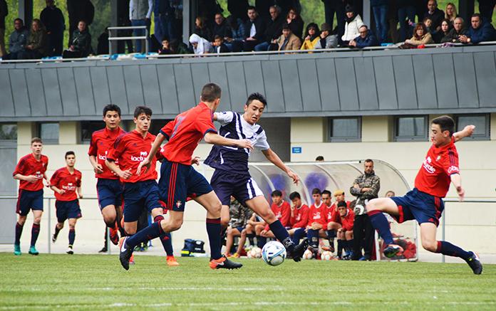 Tomás Bascón en un partido de Marcet contra Osasuna.