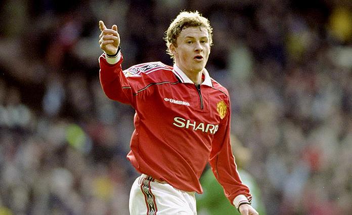 Ole Gunnar Solskjaer en su etapa como jugador el Manchester United.