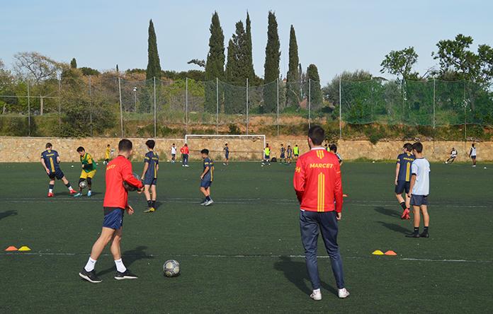 Una sesión de entrenamiento del 12 de marzo en las instalaciones Marcet.