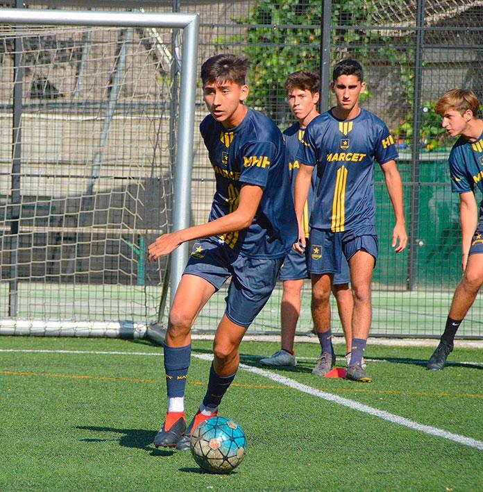 José Pinzón durante un entrenamiento en Barcelona.